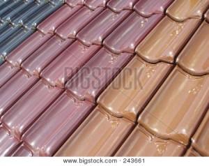 Colored ceramic tiles