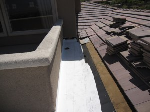 picture of a roof under repair