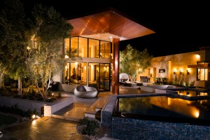 Picture of luxurious home with roof services and fixtures by prestige roofing