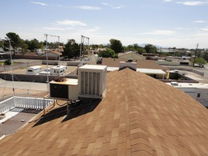 picture of a home roof with shingles