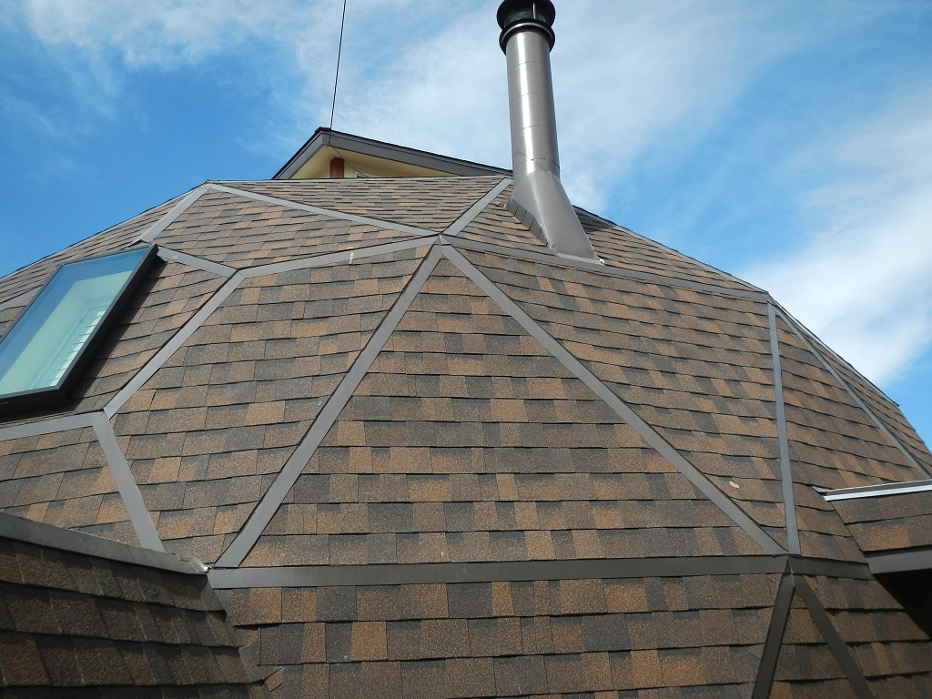 dome shingle roof