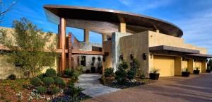 Custom copper roofing design elevated over luxury las vegas home