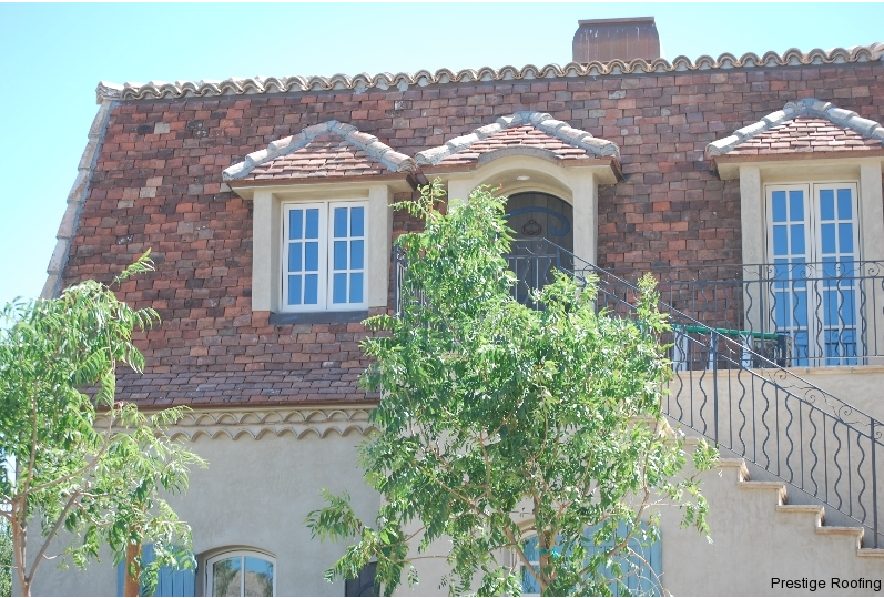 reclaimed tile roof on two story home in las vegas