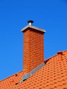 chimney with flashing elements