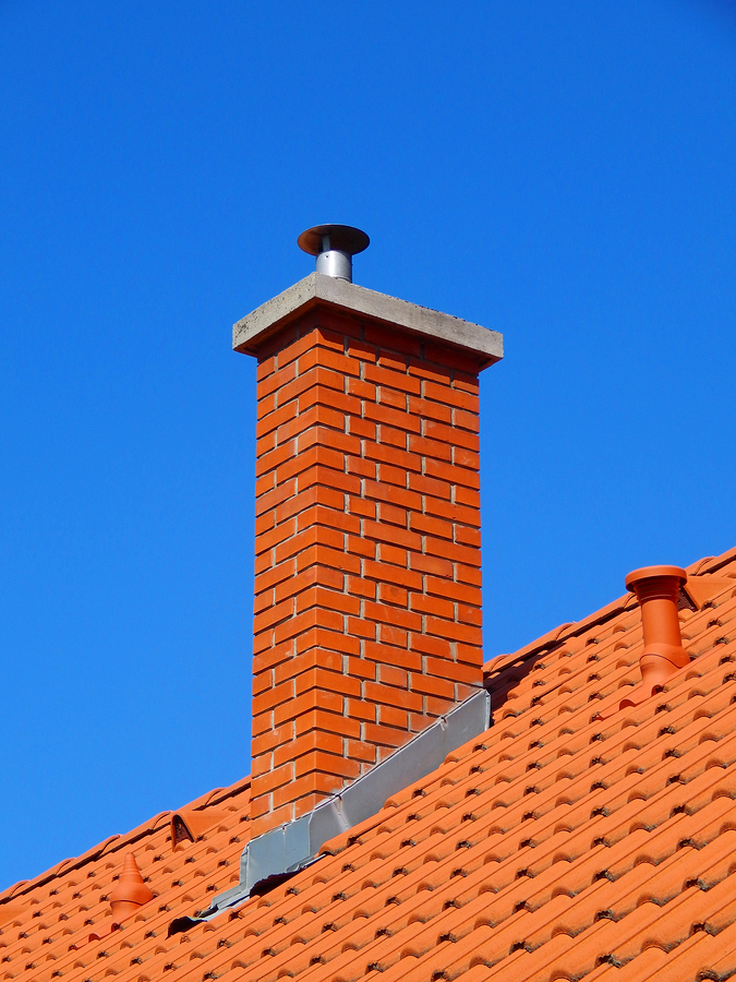 chimney with flashing elements