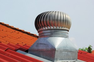 stainless steel exhaust fan on roof