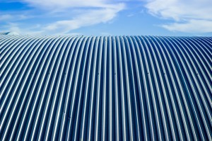beautiful zinc roofing against a blue sky