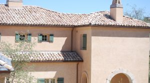 Reclaimed tile roof by Prestige on beautiful home in Southern Highlands Henderson NV