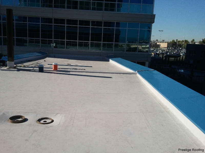 New Commercial flat roof downtown Las Vegas business district