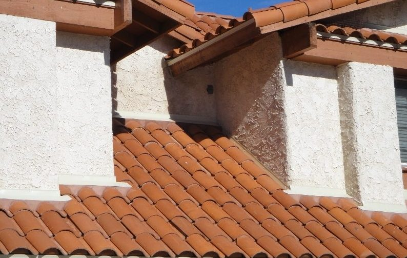 red cement tile roofing material