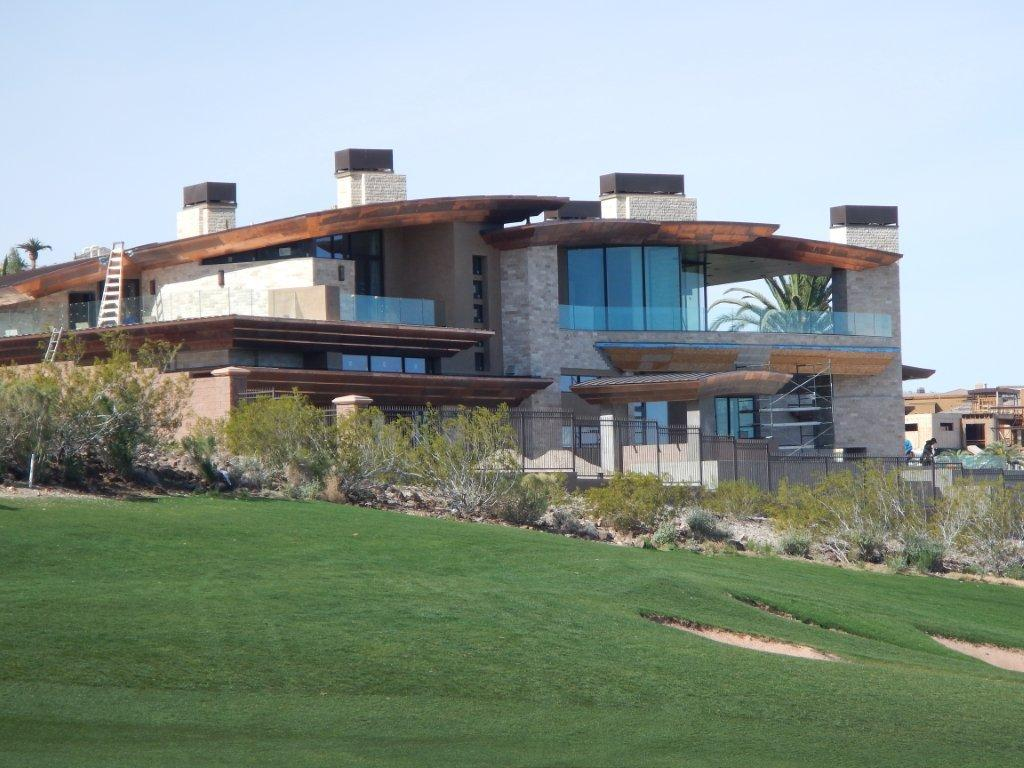 McDonald Highland Henderson NV custom copper roof project golf course home