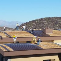 energy efficient copper roofing in a McDonald Highlands home in Las Vegas, NV