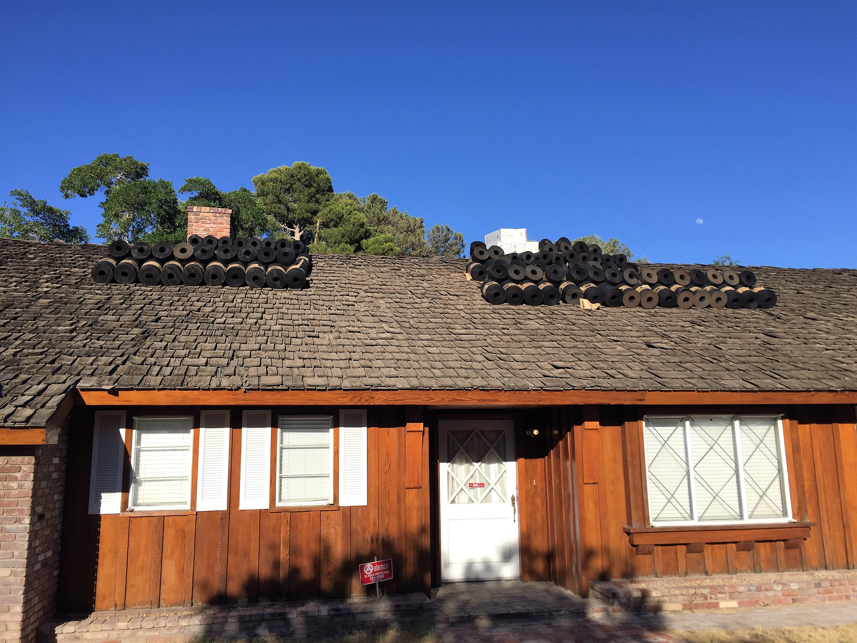 CeDUR shake roof replacement in Las Vegas on viintage ranch home