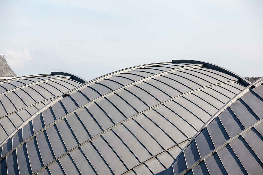 Rounded zinc roof showing the aesthetic nature of zinc roofing